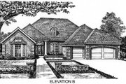 European Style House Plan - 4 Beds 3 Baths 2689 Sq/Ft Plan #310-546 Exterior - Other Elevation