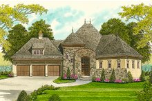Dream House Plan - European Exterior - Front Elevation Plan #413-100