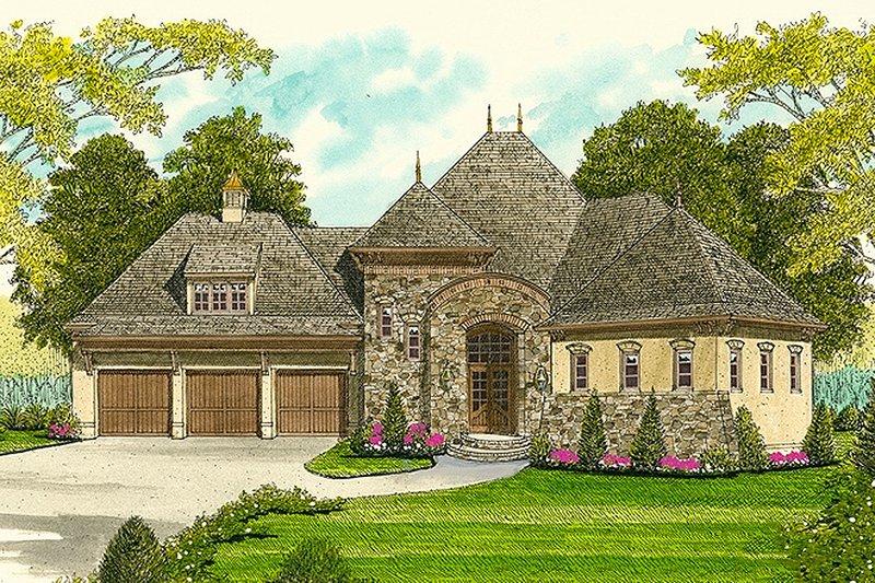 Architectural House Design - European Exterior - Front Elevation Plan #413-100