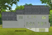 Colonial Exterior - Rear Elevation Plan #1010-216