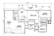 Traditional Style House Plan - 3 Beds 3.5 Baths 2162 Sq/Ft Plan #5-253 Floor Plan - Main Floor Plan