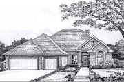 European Style House Plan - 3 Beds 2.5 Baths 2010 Sq/Ft Plan #310-919 Exterior - Front Elevation
