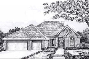 European Exterior - Front Elevation Plan #310-919