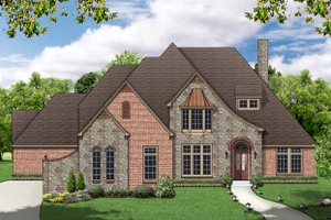 European Exterior - Front Elevation Plan #84-467