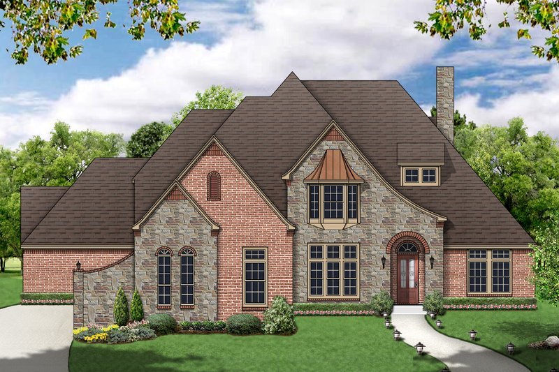 Home Plan - European Exterior - Front Elevation Plan #84-467
