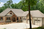 Craftsman Style House Plan - 4 Beds 3.5 Baths 3938 Sq/Ft Plan #437-103 Exterior - Front Elevation