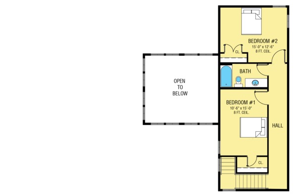 Farmhouse Floor Plan - Upper Floor Plan #1068-1