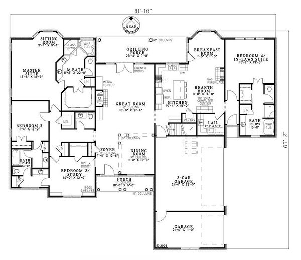 European Floor Plan - Main Floor Plan Plan #17-2193