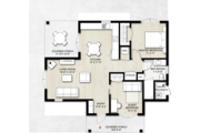 Contemporary Style House Plan - 2 Beds 1 Baths 935 Sq/Ft Plan #924-12 Floor Plan - Main Floor Plan
