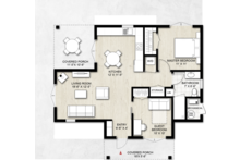 Contemporary Floor Plan - Main Floor Plan Plan #924-12