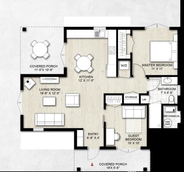 Home Plan - Contemporary Floor Plan - Main Floor Plan #924-12