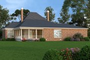 European Style House Plan - 4 Beds 3.5 Baths 4005 Sq/Ft Plan #45-367 Exterior - Rear Elevation