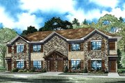 Country Style House Plan - 8 Beds 8 Baths 4112 Sq/Ft Plan #17-3421 Exterior - Front Elevation