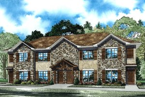 Dream House Plan - Country Exterior - Front Elevation Plan #17-3421