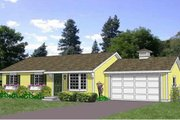 Ranch Style House Plan - 3 Beds 2 Baths 1200 Sq/Ft Plan #116-290 Exterior - Front Elevation