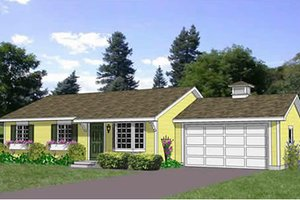 Ranch Exterior - Front Elevation Plan #116-290