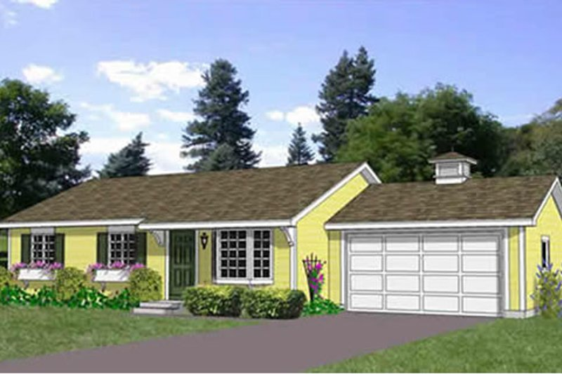 Ranch Style House Plan - 3 Beds 2 Baths 1200 Sq/Ft Plan #116-290