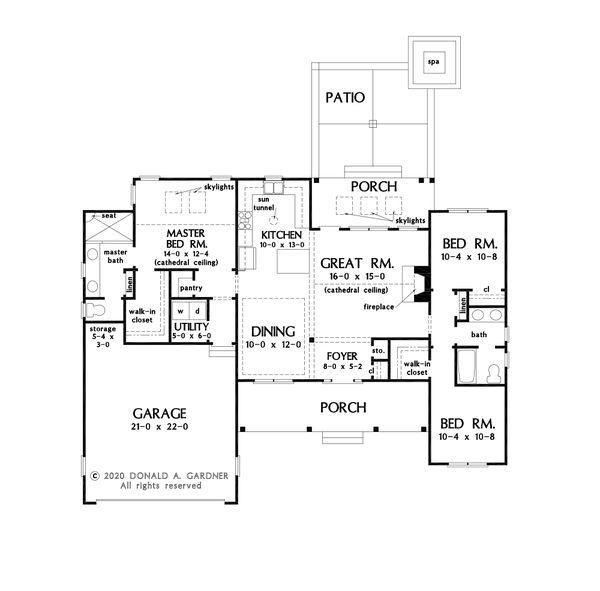 House Design - Farmhouse Floor Plan - Main Floor Plan #929-1119