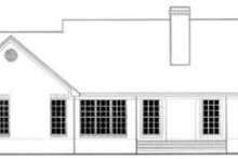 Dream House Plan - Ranch Exterior - Rear Elevation Plan #406-241