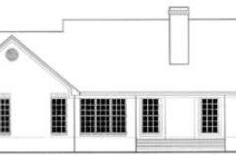 Ranch Exterior - Rear Elevation Plan #406-241 - Houseplans.com