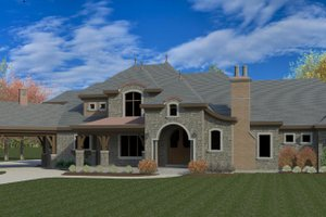 European Exterior - Front Elevation Plan #920-126