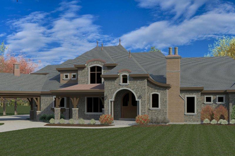 Architectural House Design - European Exterior - Front Elevation Plan #920-126
