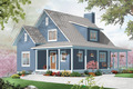 Cottage Style House Plan - 3 Beds 2 Baths 1370 Sq/Ft Plan #23-2295 Exterior - Front Elevation