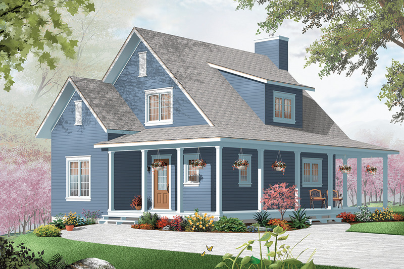 Front view - 1400 square foot cottage