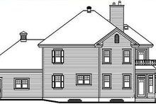 Dream House Plan - Traditional Exterior - Rear Elevation Plan #23-371
