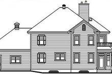 House Plan Design - Traditional Exterior - Rear Elevation Plan #23-371