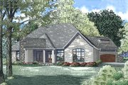 European Style House Plan - 4 Beds 2.5 Baths 2617 Sq/Ft Plan #17-2557 Exterior - Rear Elevation