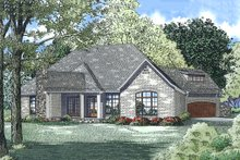 House Design - European Exterior - Rear Elevation Plan #17-2557