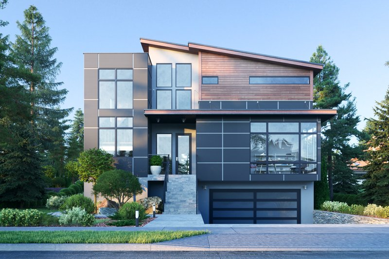 Dream House Plan - Modern Exterior - Front Elevation Plan #1066-109