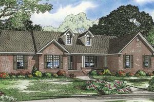 Traditional Exterior - Front Elevation Plan #17-2289
