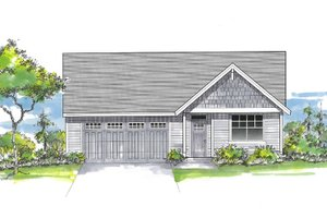 Architectural House Design - Craftsman Exterior - Front Elevation Plan #53-661