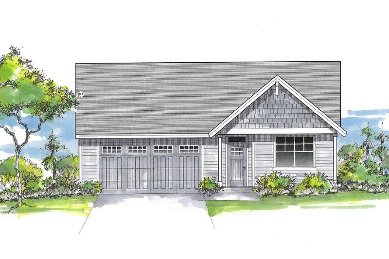 Architectural House Design - Craftsman Exterior - Front Elevation Plan #53-661