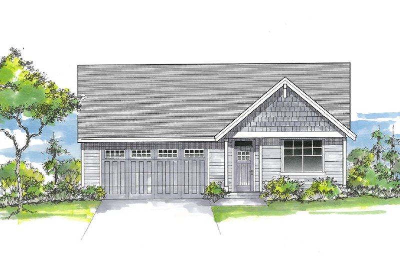 House Design - Craftsman Exterior - Front Elevation Plan #53-661