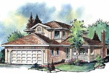 Home Plan Design - European Exterior - Front Elevation Plan #18-203