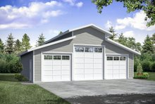 House Plan Design - Traditional Exterior - Front Elevation Plan #124-1180