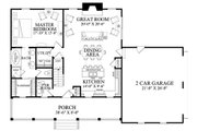 Country Style House Plan - 3 Beds 2.5 Baths 1764 Sq/Ft Plan #137-278 Floor Plan - Main Floor Plan