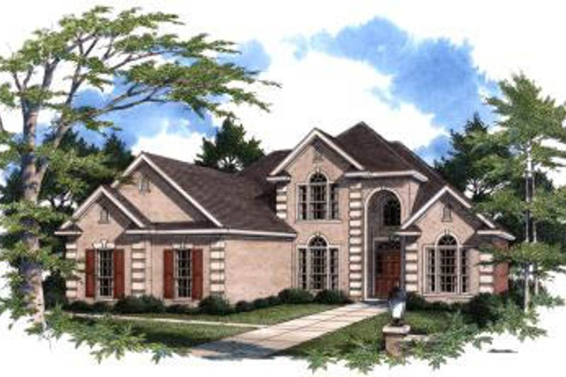 Architectural House Design - European Exterior - Front Elevation Plan #37-209