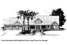 House Plan Design - Optional Front Load Garage