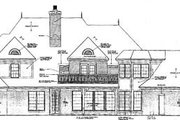 European Style House Plan - 5 Beds 4.5 Baths 5354 Sq/Ft Plan #310-349 Exterior - Rear Elevation
