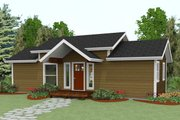 Cabin Style House Plan - 2 Beds 2 Baths 640 Sq/Ft Plan #504-8 Exterior - Front Elevation