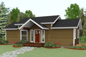 Cabin Exterior - Front Elevation Plan #504-8