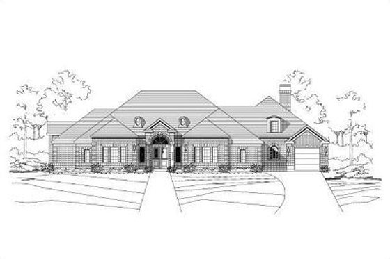 European Exterior - Front Elevation Plan #411-263