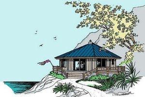 Cottage Exterior - Front Elevation Plan #60-576