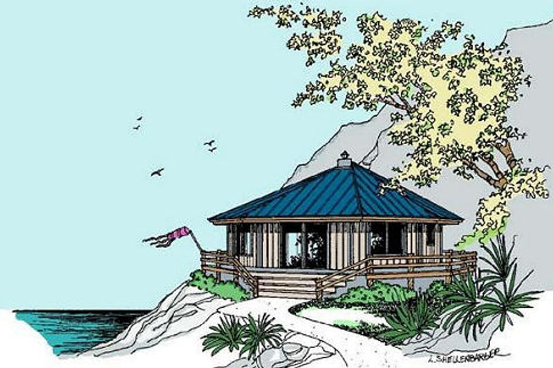House Design - Cottage Exterior - Front Elevation Plan #60-576