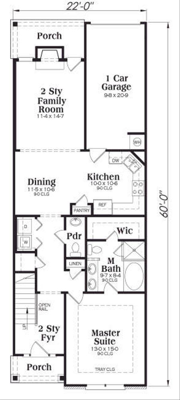 Craftsman Floor Plan - Main Floor Plan Plan #419-178