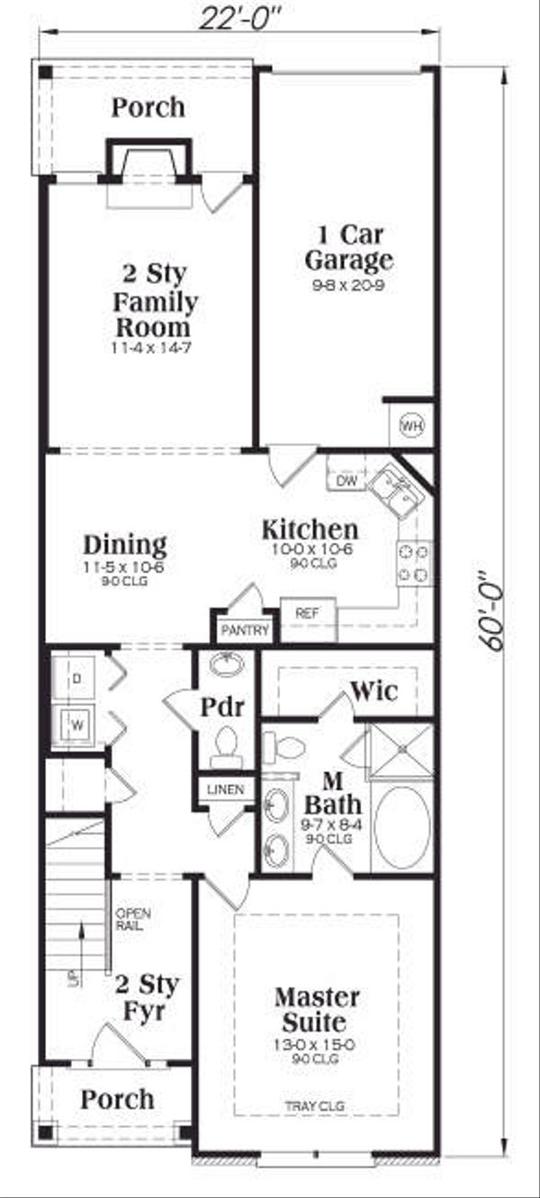 Craftsman Floor Plan - Main Floor Plan Plan #419-178